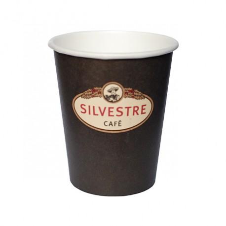 50 Vasos de papel para café con leche