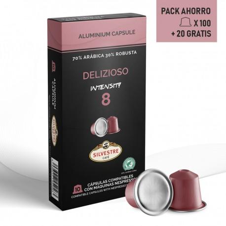 Pack Ahorro Cápsulas compatibles Nespresso Delizioso 120 unidades